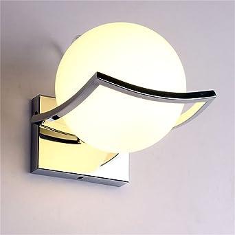 Geoco Glaskugel LED Wandleuchten Modern Wandleuchte InnenMetall Edelstahl Halterung Wohnzimmer Schlafzimmer