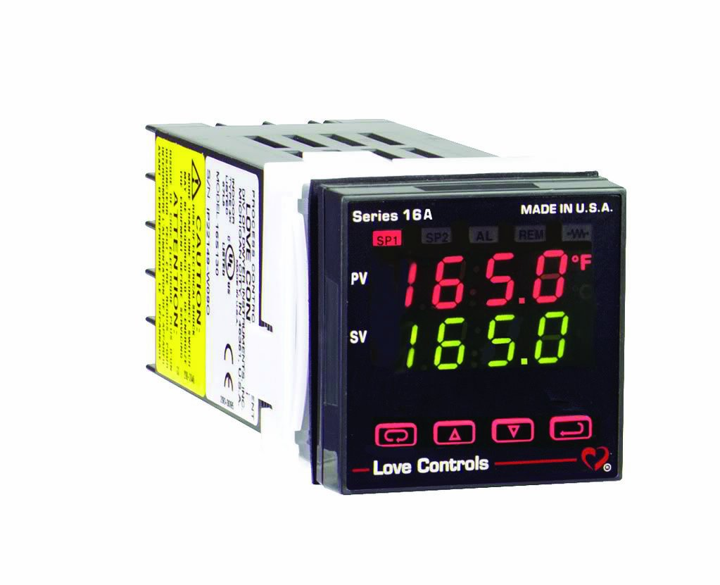 Dwyer Love Series 16A Temperature and Process Controller, Two SSR Output, with Alarm