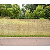 Tuff Concepts Garden Screening Roll Wooden Fence Panel 4m Natural Peeled Reed (4m x 1m)
