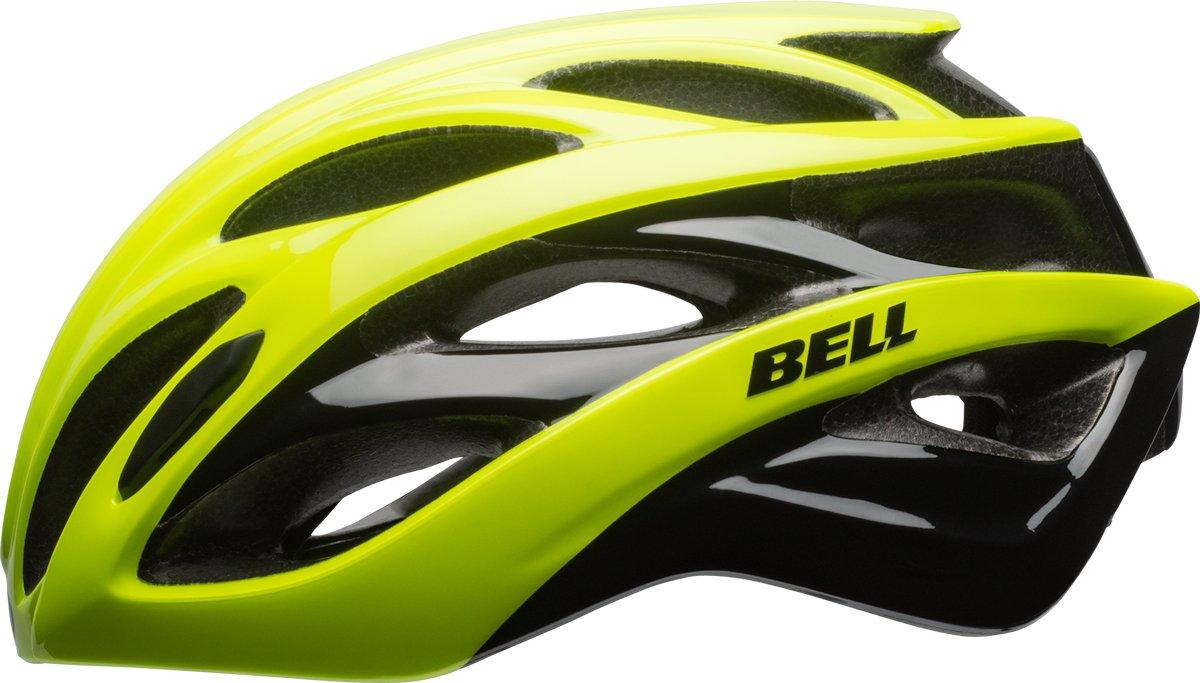 BELL Overdrive Rennrad Fahrrad Helm gelb schwarz 2017
