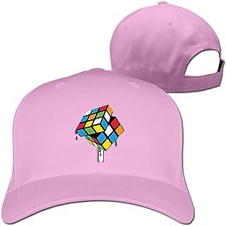 Feruch Melting Rubiks CubeHat Baseball Caps Pink