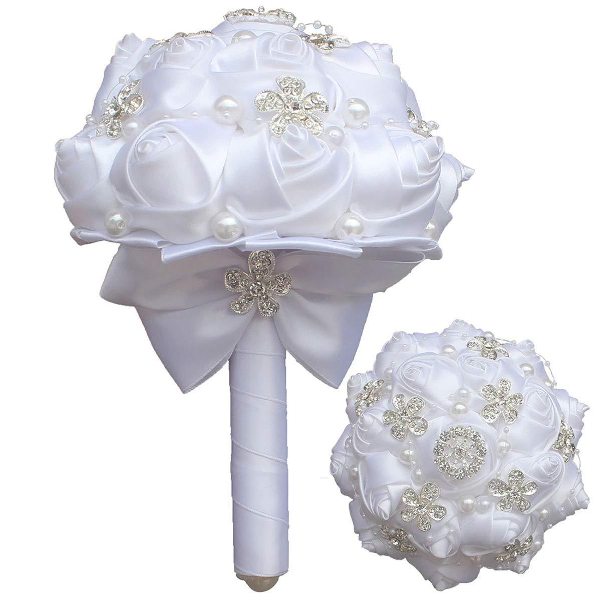 Floral Holder Wedding Bouquet DIY Bridal Posy Foam Handle 6PC 7.09inch