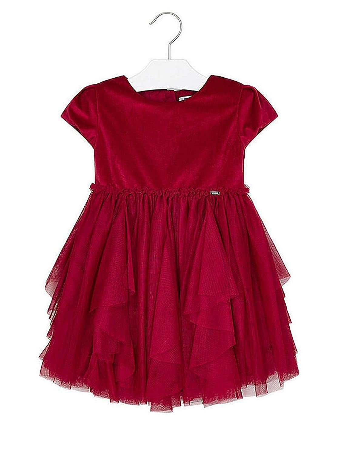 Mayoral - Robe Tulle pour Fille - 4924, Rouge