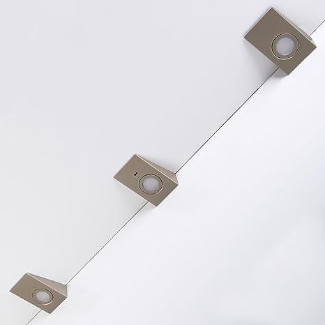 Juego de 3 x SO-TECH® Luz cuadrado LED debajo de mueble de cocina