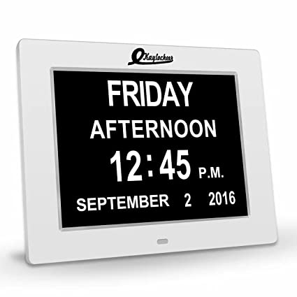 Amazon Com Dementia Clock 8 Large Number Digital Clock Senior