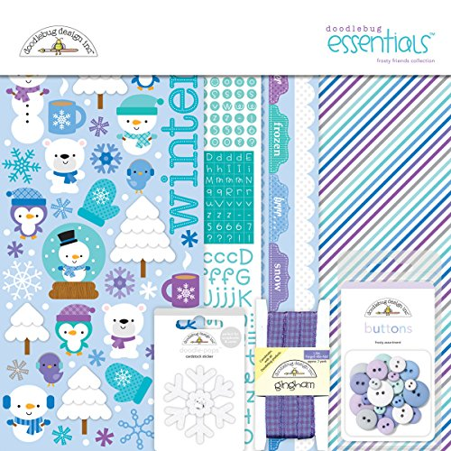 Doodlebug Essentials Page Kit, 12-Inch by 12-Inch, Frosty Friends