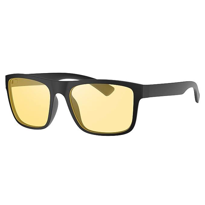 Avoalre Gafas Anti luz Azul para Ordenador Amarillo Gafas Cuadradas Unisex Ligeras para Hombre y Mujer