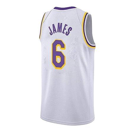 AKCHIUY Camisetas De Baloncesto para Hombre-NBA Lakers 6 ...
