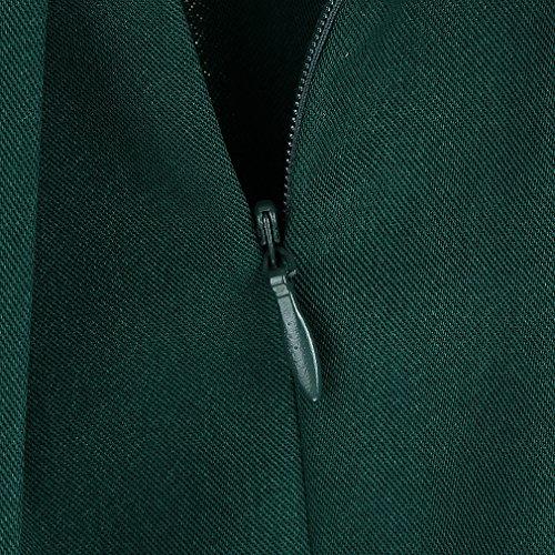 Vogue Donna per da Verde Retro La Casual a Corta Ragazza Pieghe Gonna Vestito xdwwvqI