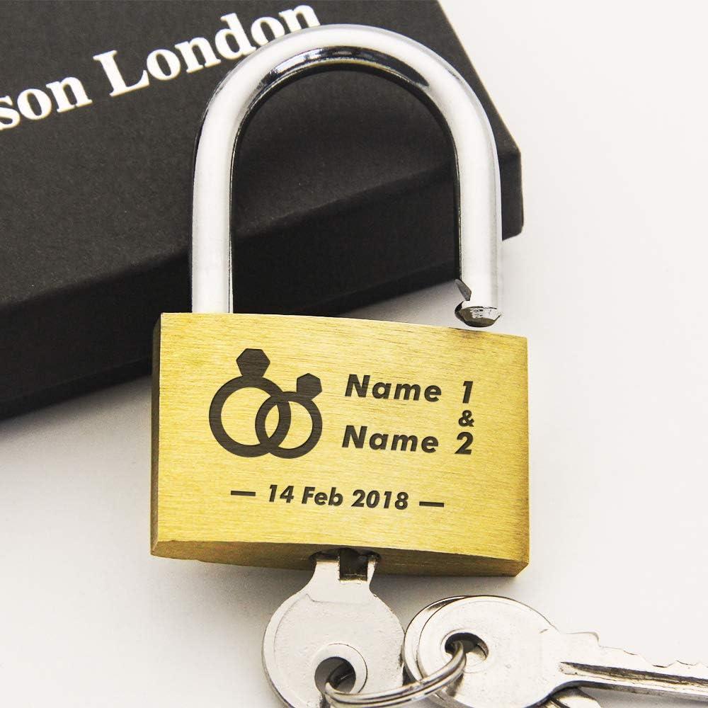 Present Love Lock Comes in Gift Box Annivesary Gift EDSG Personalised Engraved PadlockWedding