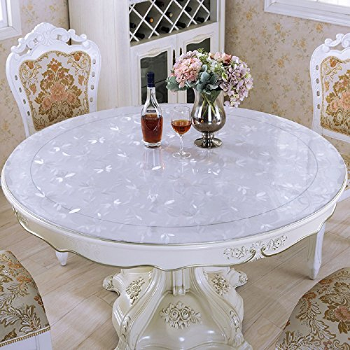 LovePads Multi Size Custom Round 2mm Thick Cosmos PVC Table Protector Cover Tablecloth 60 Inches (Dia. 152.4cm) by DiscoverDecor (Image #4)