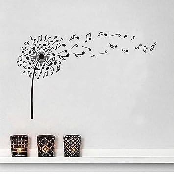 Stickers Décoration Muraux De Musique Muralenotes Afgd Pissenlit O0knwP