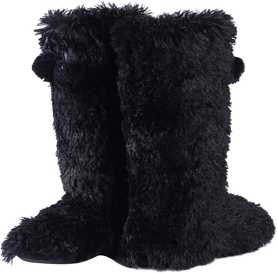 Cozy Fleece House Indoor Slipper Boots