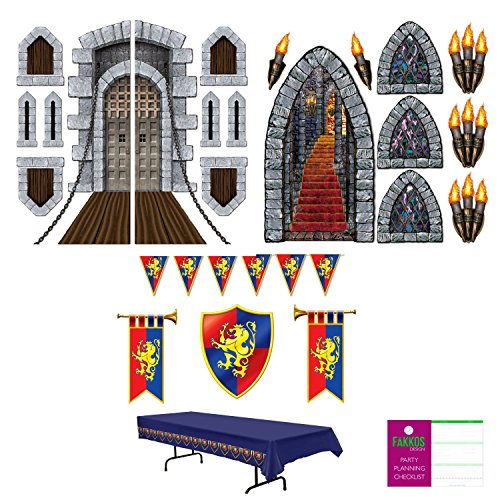 Medieval Renaissance Themed Party Decoration Kit (23 (Medieval Pennant Banner)