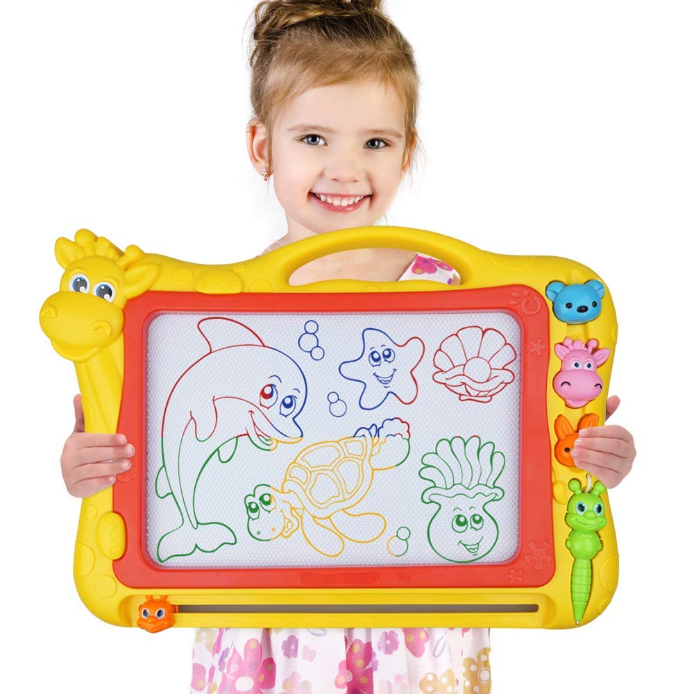 Magnetic Drawing Board, Large Size Magna Drawing Doodle Board with 4 Colors