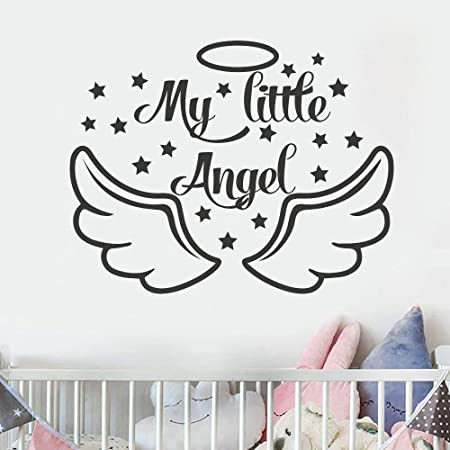 hllhpc My Little Angel Tatuajes de Pared Baby Shower Decoración ...