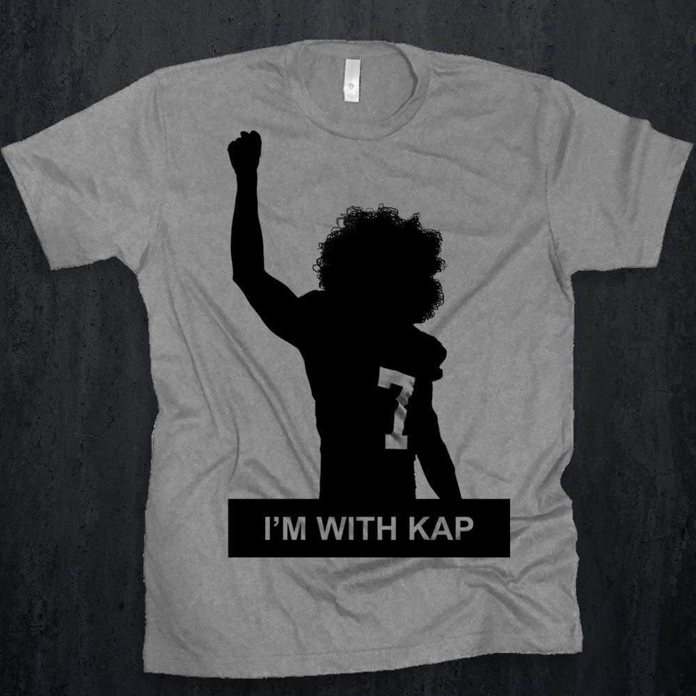 sports shoes 3b728 c4466 Colin Kaepernick I'm With Kap Tee IMWITHKAP Nike Ad Anthem Inequality  Racial Inujustice