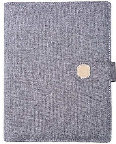 Organizer Weekly Zip 3 Ring (Planner 2018-2019 - Academic Planner to Promote Management & Happiness with Mindmap & Year Goals - Waterproof Fabric Cover, Loose-leaf Binder, Non-Dated, Gray)