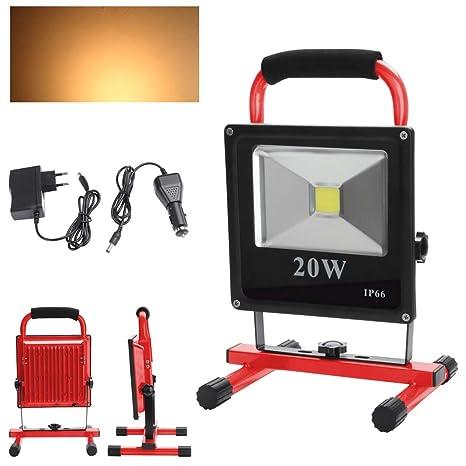 LED bateríalámpara Wolketon con Foco de trabajolámpara Aj34RLq5