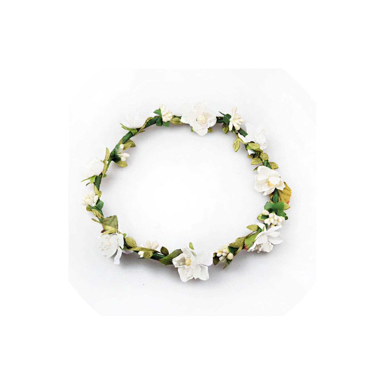 Every Fairy Flower Crown Women Flower Hair Accessories For Girl Fashion Wreath Floral Headwear Ladies Bridesmaid Headband,Purple