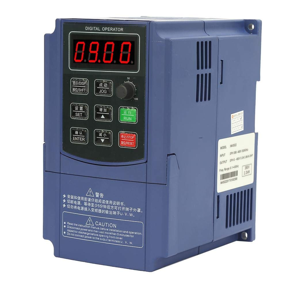 Universal 380V 2.2KW Three Phase Input Three Phase Output Frequency Converter VFD by Xinwoer