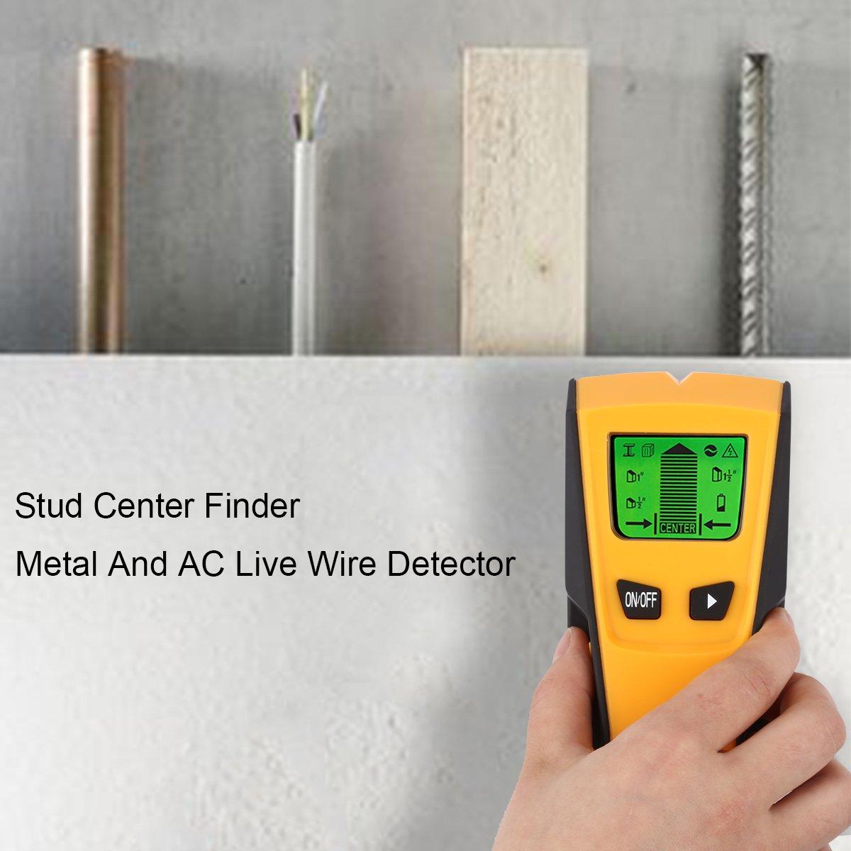 Floureon TH-210 - 3 en 1 Detector Pared de metal, perno prisionero y cable AC de alta tensón: Amazon.es: Bricolaje y herramientas