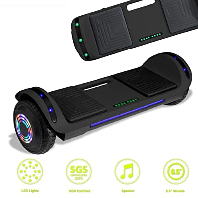 Latest Model Electric Hoverboard Dual Motors Two Wheels Smart self Balancing Scooter with Built in Speaker LED Lights for Gift (Black): Sports & Outdoors