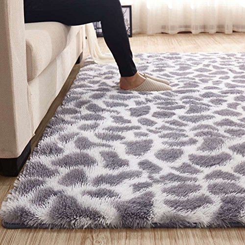 MAXYOYO Leopard Printed Large Fluffy Shaggy Area Rug for Living Room, 3.5CM High Pile Plush Carpet Ultra Soft Shag Area Rug, Living Room Rugs 79 by 118 Inch Review