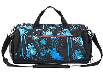 75b631f72061f Sporttasche Duffels Reisetasche Mit Schuhfach Wasserdicht Fitnesstasche  Trainingstasche Weekender Tasche Für Frauen Und Männer