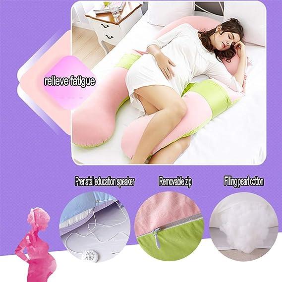 EOVL Almohada de Lactancia en Forma de U para Dormir Lateral ...