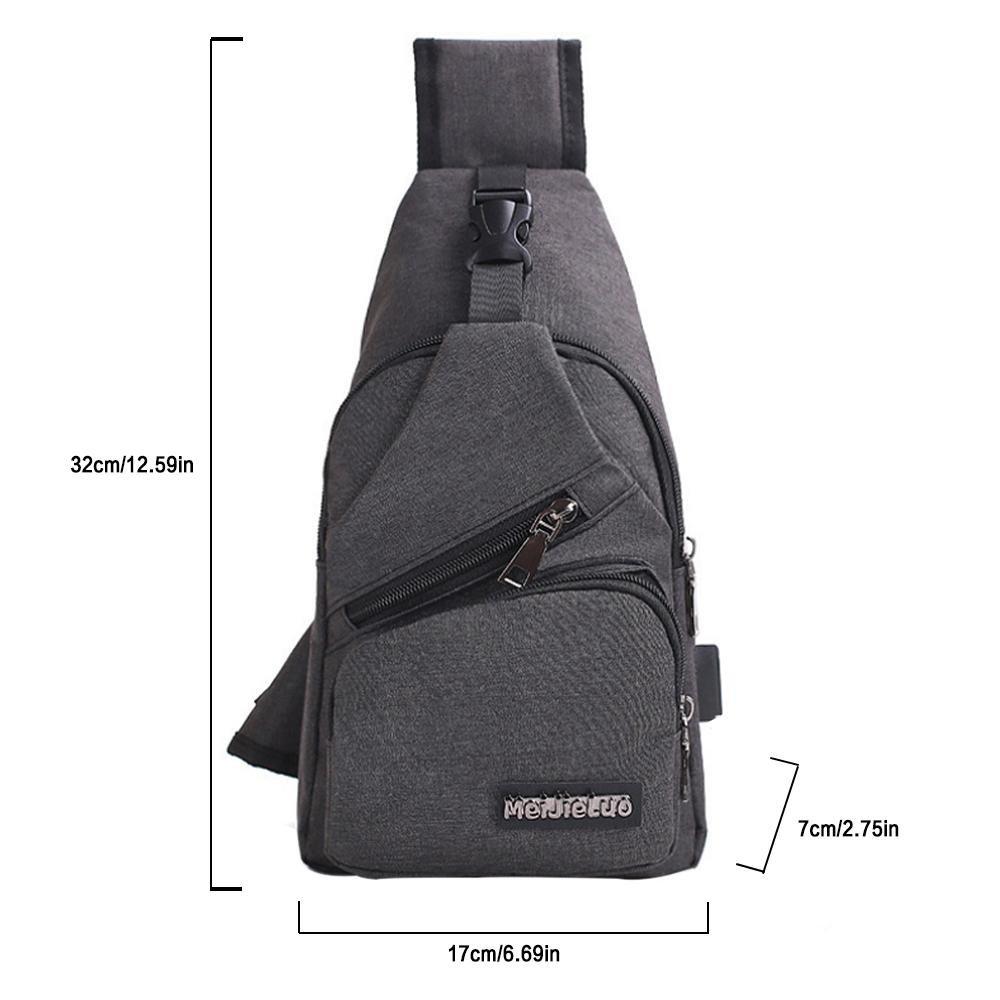 c09f24e64761 Amazon.com: Pawaca Sling Shoulder Crossbody Chest Bag with USB ...