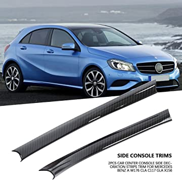 2pcs Car Center Console Side Decoration Strips Trim for Mercedes ...