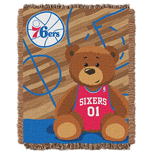 - The Northwest Company Officially Licensed NBA Philadelphia 76ers Half Court Woven Jacquard Baby Throw Blanket, 36