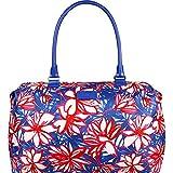Lipault Paris Blooming Summer Weekend Bag - Medium (Flower/Pink/Blue)