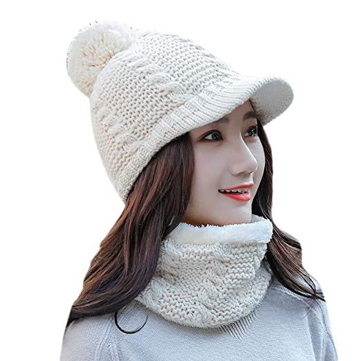 c42c8243200 Outsta Hat Cap 2Pcs Women Winter Warm Knitted Venonat Beanie Hat+ ...