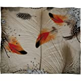 Deny Designs Iveta Abolina Feather Dance Fleece Throw Blanket, 50 x 60