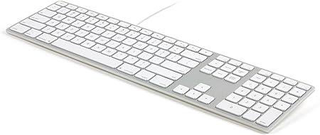 Matias Teclado de Aluminio con Cable para iMacs (Apple OS X)