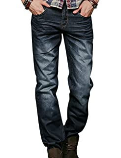 Liveinu Mens Zac Relaxed-Fit Straight-Leg Jean