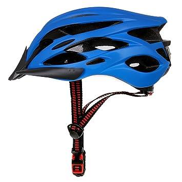 MOLDERY Diseño Mate Negro Bicicleta Cascos MTB Mountain Road Ciclismo Casco Bicicleta con luz Trasera Casco