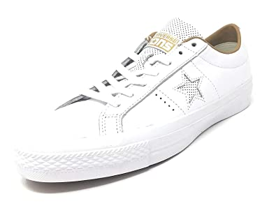 3163a28db8ac Image Unavailable. Image not available for. Color  Converse One Star  Leather OX White Sand ...