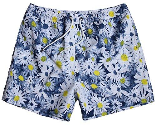 WUAMBO Athletic Men's Fashion Swimwear Beach Holiday Hawaii Shorts Waist 31