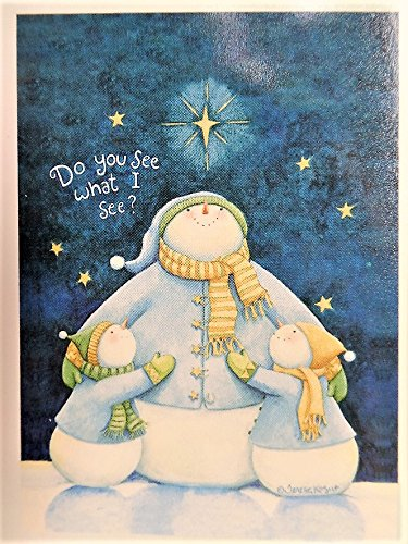 Snowman with Snow Children Flag Outdoor 'Do you see what I see?' with Bright Holiday Christmas Colors Decoration 28