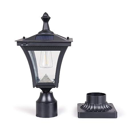 Amazon.com: KMC LIGHTING ST4212Q - Lámpara solar para poste ...
