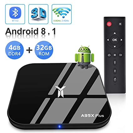 Android TV BOX, A95X PLUS TV BOX Android 8 1 4GB RAM: Amazon