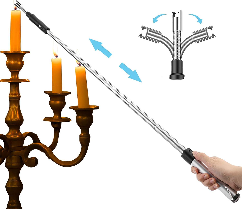 Kohree Encendedor de velas de arco de luz de 360°, USB extraíble, sin llama, encendedor de varilla electrónico, resistente al viento ya la intemperie, ...