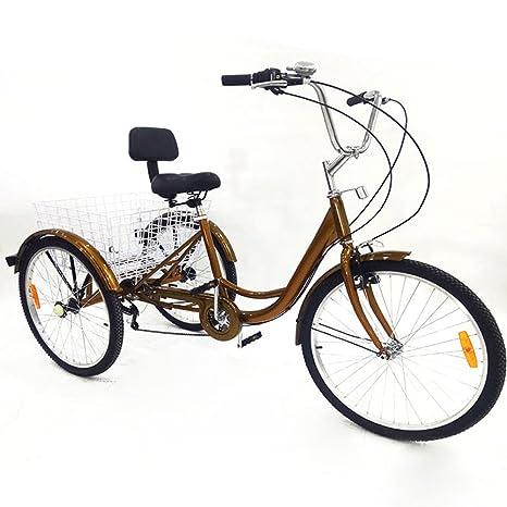 UCSLIFE Bicicleta de Paseo/Bicicleta Paseo City Classic/Cesto Plegable de 6 velocidades,