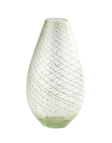 Amazon New 13 Hand Blown Art Glass Teardrop Vase Light Green