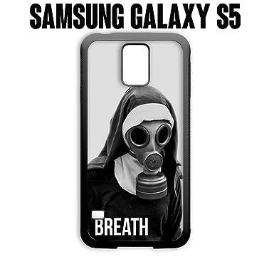 Teléfono Móvil aliento monja con máscara de gas para Samsung Galaxy S5 caucho negro (barcos