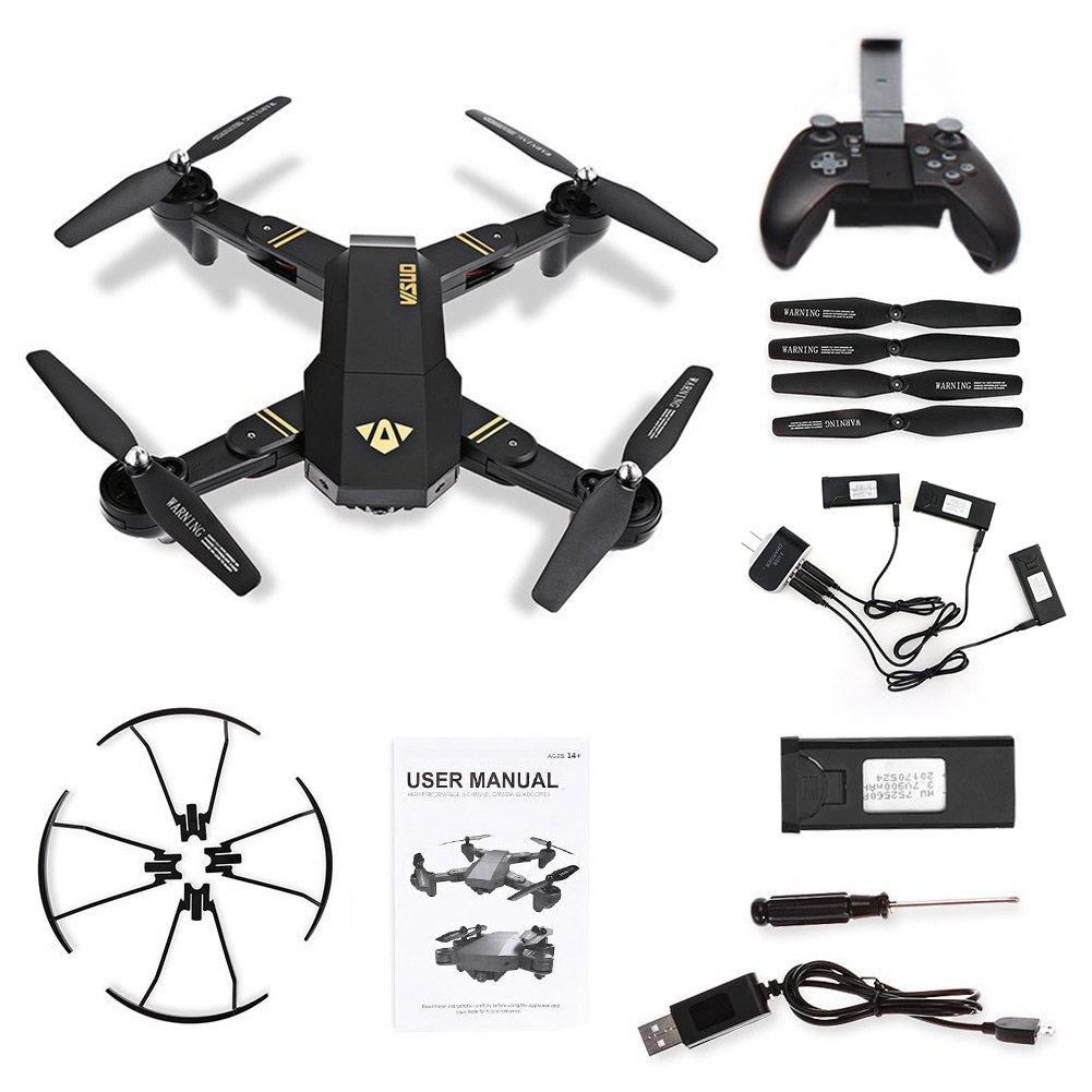 flypro visuo xs809hw Plegable RC Quadcopter Drone Set con 2 MP 120 ...
