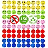 Quantity: 25 Pack=150 Counts(Stickers)  · Natural Ingredients: The Mosquito Repellent Stickers use non-Toxic and all natural plant ingredients absolutely safe for you and children to use.  · Easy to apply: Just stick two or more smile face to...